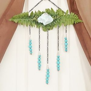 Amazonite Hanging with Wood Accents